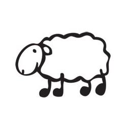 Autocollant Mouton Brebis...