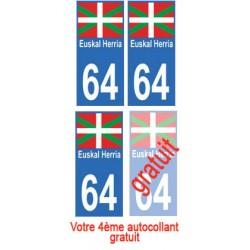 autocollant Pays Basque 64...